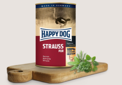 Happy Dog Strauβ Pur 400g