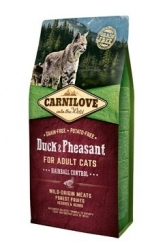 Carnilove Cat Duck&Pheasant Adult Hairball Contr