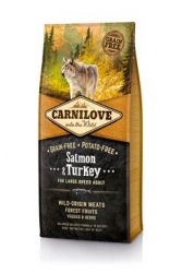 Carnilove Dog Salmon & Turkey for LB Adult NEW
